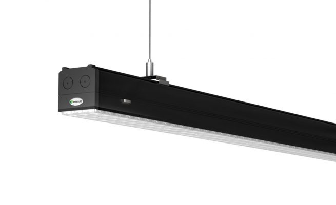 Best LED Parking Garage Lighting System: Continuous Row Linear Lights