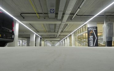 Best LED Parking Garage Lighting System Continuous Row Linear Lights