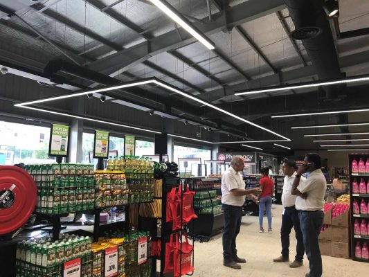 Sanli LED Continuous Row Linear Lighting System in Supermarket
